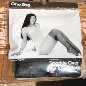 American Apparel Sparkle Over the Knee Sock